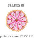 Strawberry cake, birthday cake. Baking with 26953711