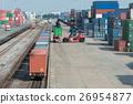 Cargo train platform in container depot 26954877