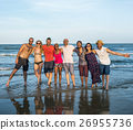 Young People Standing Near Sea Concept 26955736