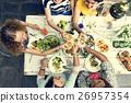 cheers, eating, friends 26957354