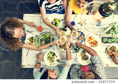 Women Communication Dinner Together Concept 26957354