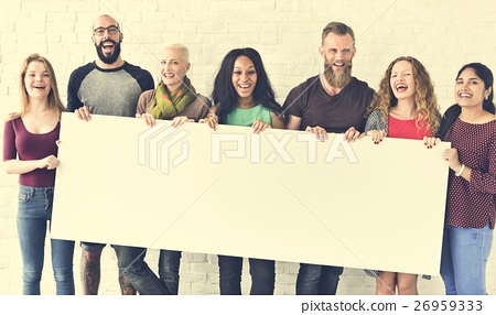 People Friendship Togetherness Copy Space Banner Concept 26959333