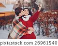couple, winter, love 26961540