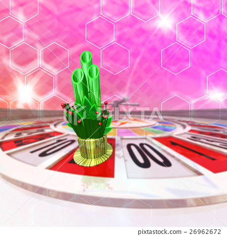 Roulette which the New Year Kadomatsu occupies 26962672