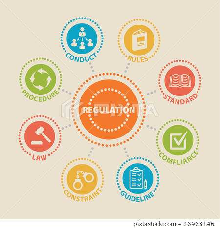 REGULATION. Concept with icons. 26963146