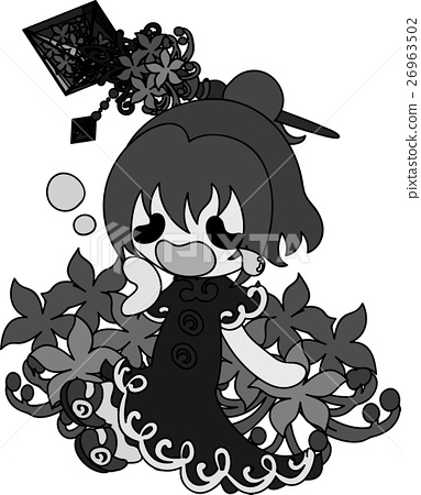 Stock Illustration: flower, flowers, botanic