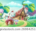 candy, vector, house 26964251