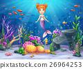 Vector cartoon illustration underwater world 26964253