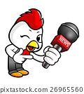 Chicken Character is holding a microphone 26965560