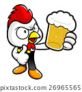 Chicken Character drinks the best beer. 26965565