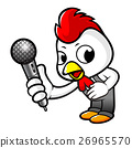 Chicken Character holding a microphone. 26965570