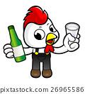 Chicken Character drink the best distilled spirits 26965586