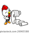 Chicken Character holding an order page. 26965588