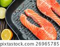 Fresh Raw Salmon Red Fish Steak 26965785