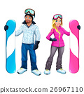 Snowboarders boy and girl 26967110