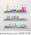 Shelves With Lab Equipment Composition 26967296