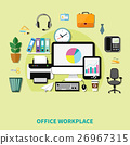 Office Workplace Composition  26967315