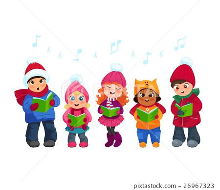 Caroling kids set 26967323