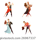 Dance Pair Retro Cartoon Set 26967337