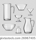 Realistic Glassware Kitchen Utensils Transparent 26967405