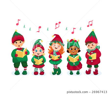 Caroling kids set 26967413