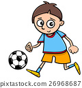 boy playing ball cartoon 26968687