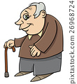 senior with cane cartoon 26968724