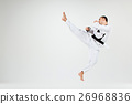 The karate man with black belt 26968836