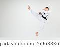The karate man with black belt 26968836
