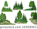 Landscapes with Trees and Rocks 26968963