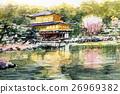 Sketch of Kinkakuji World heritage Kyoto sightseeing 26969382
