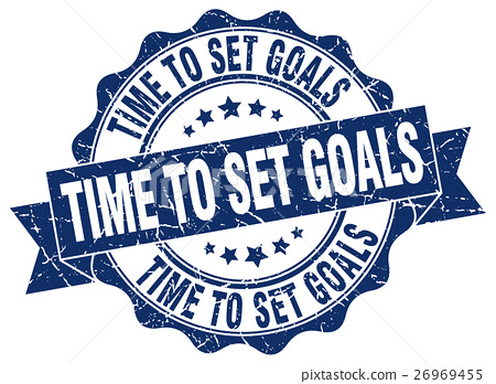 time to set goals stamp. sign. seal 26969455