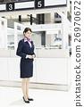 机场 乘务员 人 26970672