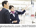 cabin attendant, businessman, guidance 26970689