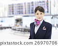 airport, cabin attendant, person 26970706