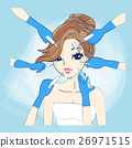 cartoon woman and cosmetology 26971515