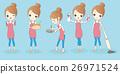 happy cartoon housewife do work 26971524