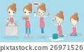 cartoon housewife do work 26971526
