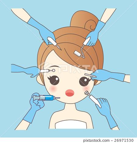 cartoon woman and cosmetology 26971530