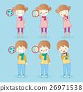 cartoon children has health problem 26971538