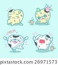 cartoon teeth have toothache 26971573