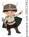 Boy in viking costume 26972481