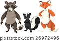 Three types of wild animals 26972496