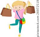 여성, 가방, 벡터 26972519