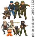 Criminals and SWAT team 26972532