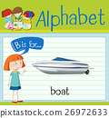 Flashcard letter B is for boat 26972633