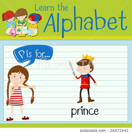 Flashcard letter P is for prince 26972641