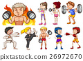 People doing different types of sports 26972670
