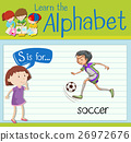 Flashcard letter S is for soccer 26972676