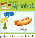 Flashcard letter H is for hotdog 26972692